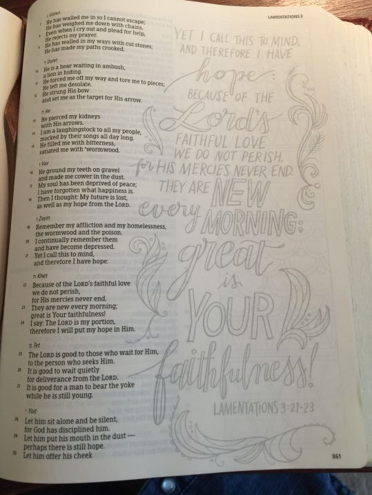 Bible Journaling Part 1 – Tailor Made